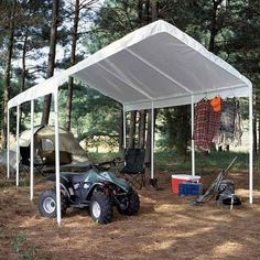 Carports - King Canopy 10 x 20 ft Hercules Enclosed Canopy Carport *** Check & eCanopy.com - One Person Setup of Instant Canopy   Over Head ...