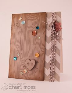 Gorgeous card featuring Lawn Fawn's woodgrain backdrops, hot cocoa lawn trimmings and Into The Woods mixed sequins by Chari