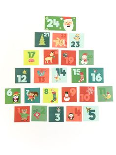 Printable Christmas advent calendar for kids with simple activities to do each day!