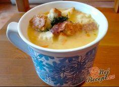 Hrachová polévka s uzenými žebírky Cheeseburger Chowder, Mashed Potatoes, Oatmeal, Soup, Pudding, Breakfast, Ethnic Recipes, Desserts, Recipies