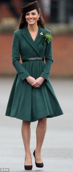 Kate wearing Emilia Wickstead outfit on St. Patrick's Day 3/17/2012