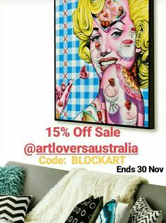 Get 15% Off Laural Retz Original Paintings at Art Lovers Australia until 30 November 2019.  Use Code:  BLOCKART