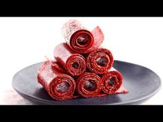 Skip the artificially flavored store-bought fruit roll-ups and opt for our healthier recipe made with just two ingredientsand zero added sugar. Healthy Meals For Kids, Healthy Sweets, Healthy Snacks, Paleo Kids, Healthy Eating, Healthy Deserts, Paleo Treats, Fruit Snacks, Healthy Recipes