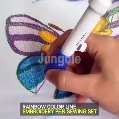 RAİNBOW COLOR EMBROİDERY THREADİNG TOOL Embroidery pen set is an unique and Beautiful craft that can be applied to wide application. It contains 136 accessories, everything you want in a sewing kit. Sewing Kit, Sewing Hacks, Sewing Crafts, Sewing Projects, Diy Projects, Sewing Toys, Sewing Basics, Knitting Projects, Embroidery Needles