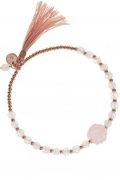 shambala armband rosen charm quaste rosa rosenquarz