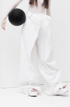 White Trousers - oversized tailoring; contemporary fashion details // Melitta Baumeister Spring 2016