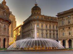 Piazza De Ferrari, Genoa, Italy...been there, seen that!!