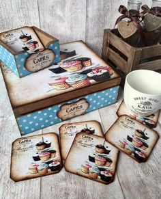 Scrapbooking & Decoupage added a new photo. Decoupage Vintage, Decoupage Box, Wood Crafts, Diy And Crafts, Arts And Crafts, Paper Crafts, Craft Projects, Projects To Try, Diy Y Manualidades