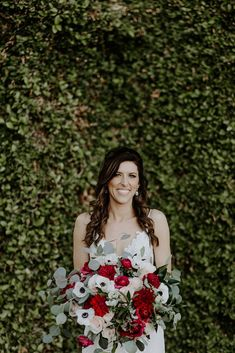 We love this garden style bouquet with lots of movement! Featuring ivory and sand roses, red ranunculus, and white anemones, this bouquet was absolutely stunning on wedding day!  | Villa Siena | Kylee Patterson Photography | #Villasiena #weddingvenue #gilbertarizona #arizonaweddings #arizonaweddingvenue #bridalbouquet #weddingflowers #red #white #ivory #greenery #gardenstyle Anemones, Ranunculus, Wedding Venues, Wedding Day, White Anemone, Wedding Flowers, Wedding Dresses, Boutonnieres, Bridal Looks