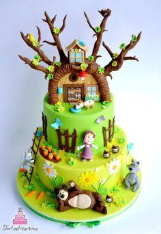 Masha y el pastel de oso
