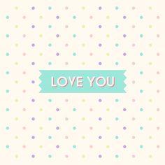 LOVE YOU  Canvas Print #society6, #love, #loveyou, #valentines, #valentinesday, #throwpillow, #homedeco, #deco, #graphic, #interior, #polkadots, #pastel #heavenleedays