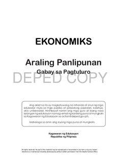 Ekonomiks 10 teachers guide Lesson Plan Sample, How To Plan, Teacher's Guide, Filipino, Places, Sample Of Lesson Plan, Lugares