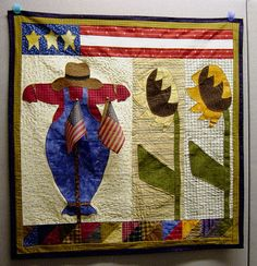 Scarecrow quilted wall hanging