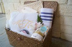 custom bridesmaid gift basket for bridal party - Marigold & Grey