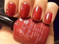 """CND's Shellac in """"Ruby Ritz"""" LA couleur de noel"""