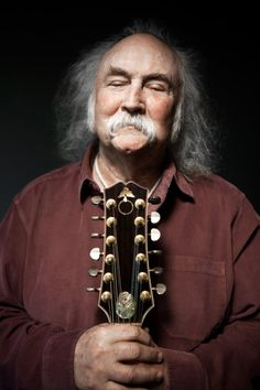 David Crosby by Michael Grecco.  That's a cool twelve string!