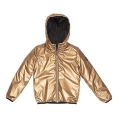 Finger in the Nose Buckley Premium Unisex Quilted Woven Zip Hoody Coat Copper