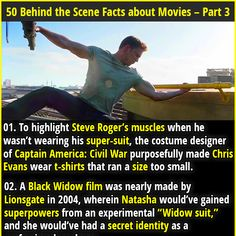 """1. To highlight Steve Roger's muscles when he wasn't wearing his super-suit, the costume designer of Captain America: Civil War purposefully made Chris Evans wear t-shirts that ran a size too small. 2. The """"Ghostface"""" mask worn by the killers of the Scream film series was discovered in an abandoned house during location scouting for the film."""