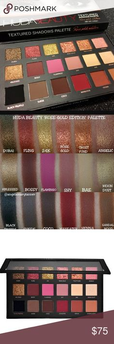 "🌟💯HUDA ""Rose Gold"" Palette!! 💯🌟 Brand New and 100% Authentic as Always!! 💯💯 This is the new and improved formula - exclusive to Sephora!! There isn't a lot I need to say about this palette- you all know how AMAZING it is!! 🌟🙌🌟 Pigment for Days!!! 😍😍 Gifts with Purchase!! 😘😘 Bundle and SAVE!! More images coming soon!! HUDA Makeup Eyeshadow"