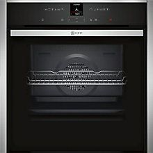 Buy Neff B47CR32N0B Slide and Hide EcoClean Single Electric Oven, Stainless…