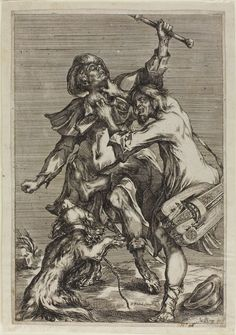Two Beggars Fighting (c.1612)