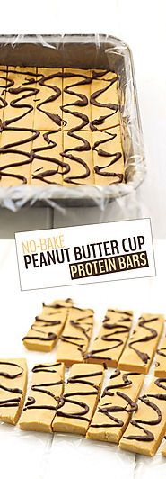 No-Bake Peanut Butter Cup Protein Bars - The Healthy Maven