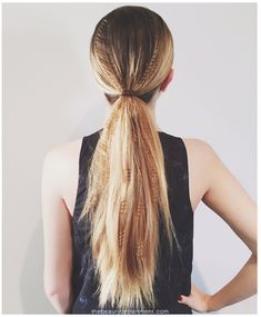Partially Crimped Ponytail- a modern take on crimping.
