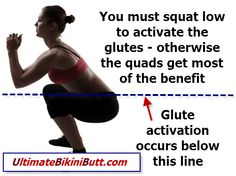 #squat low for #glute development. #booty #posteriorchain