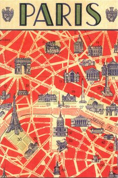 Creative Postcard, Paris, Map, France, and Typography image ideas & inspiration on Designspiration Paris France, Paris Map, Paris Travel, France Travel, Paris Poster, Travel City, Vintage Paris, Vintage Travel Posters, Vintage Postcards