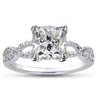 Engagement Ring Settings | Design Your Own Engagement Ring Cushion cut