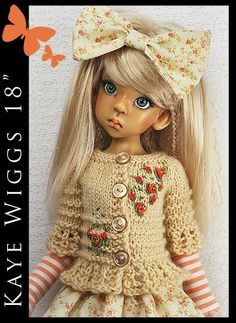 "* Orange Roses * Summer Outfit for KAYE WIGGS 18"" MSD by Maggie and Kate Create"