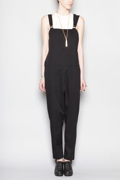 Base Range Overall With Long Straps (Black)