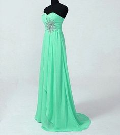 Simple Chiffon Prom Dress with Beadings, Prom Dresses 2015, Evening Dresses 2015 , Prom Gown 2015