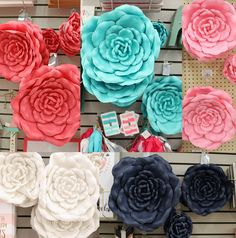 New Home Decor At Hobby Lobby The-Paper Flower Wall Decor Hobby Lobby Paper Flower Wall, Flower Wall Decor, Paper Flowers, Wall Flowers, Hobby Lobby Crafts, Hobby Lobby Decor, Hobby Lobby Flowers, Hobby Lobby Bedroom, Unicorn Rooms
