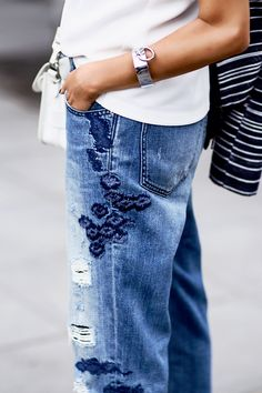 Embroidered details make these jeans a must-have. #ad