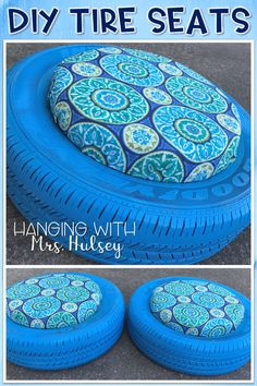 Easy DIY to reuse an old tire to create more flexible seating in your classroom! Tire seats would be perfect in a reading nook!