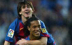 Así celebró Leo Messi su primer gol con el FC Barcelona