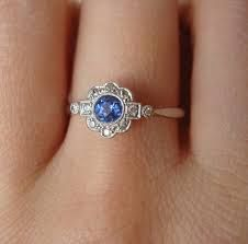 art deco gold sapphire engagement rings - Google Search