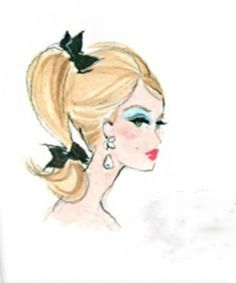 Pop Art Barbie Art Pinterest Barbie Doll And Barbie Style - Barbie hair style drawing