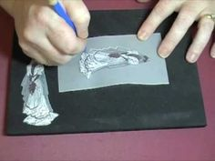 """watch #video #Tutorial of """"parchmentcraft"""" wedding card. Images by SweetStamps.com  visit me at My Personal blog: http://stampingwithbibiana.blogspot.com/"""