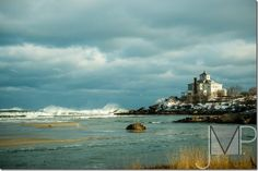 Good Harbor Beach home Winter Storm