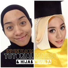 Tutorial Makeup Natural dan Hijab Style untuk Pesta atau Wisuda