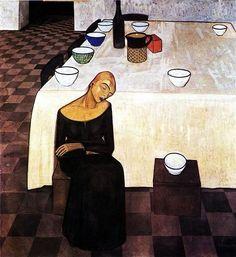 Felice Casorati (Italian, 1883-1963) - The Wait, 1919