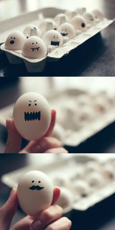 halloween ghost eggs