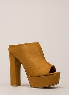 e75508f2869 Cut It Chunky Peep-Toe Platform Booties Booties Outfit