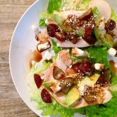Lettuce Wrap Turkey Feta Tacos. By: The Baking Dietitian #tacos #lowcarb #thereciperedux