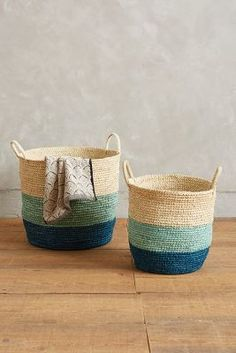 Anthropologie Handmade Grass Baskets #anthrofave