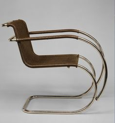 MR Armchair Designer: Ludwig Mies van der Rohe (American (born Germany), Aachen 1886–1969 Chicago, Illinois) Date: 1927 Medium: Tubular steel, painted caning