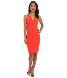 BCBGMAXAZRIA Macie Sheath Dress w/ V-Neck at 6pm.com