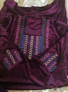 Embroidery On Kurtis, Kurti Embroidery Design, Hand Embroidery Dress, Embroidery Neck Designs, Embroidery On Clothes, Hand Embroidery Patterns, Zardozi Embroidery, Dress Neck Designs, Blouse Designs